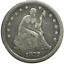 """thumbnail 1 - 1877 US Seated Liberty Silver Quarter 25C   """"No Reserve Auction""""           A-177"""