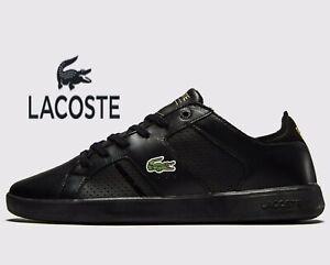 Lacoste-Novas-CT-118-1-JD-SPM-Men-Size-UK-10-amp-11-Triple-Black-Leather