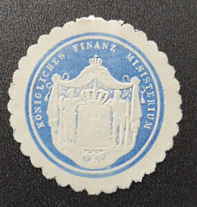 Siegelmarke-Vignette-Koenigliches-Finanz-Ministerium-7692-4