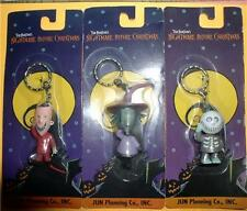 Nightmare Before Christmas Lock, Shock & Barrel Carded 3  key chains Japan