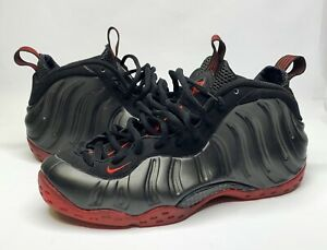 reputable site 4042d ff15a Details about 2010 Nike Air Foamposite One Black Varsity Red Cough Drop  314996-006 Size 9.5