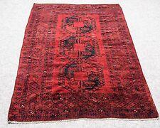 "Vintage Persian FELPA BUKHARA 4'.5""X6'.8"" Handknotted100%Wool Pile Rug GM*791"