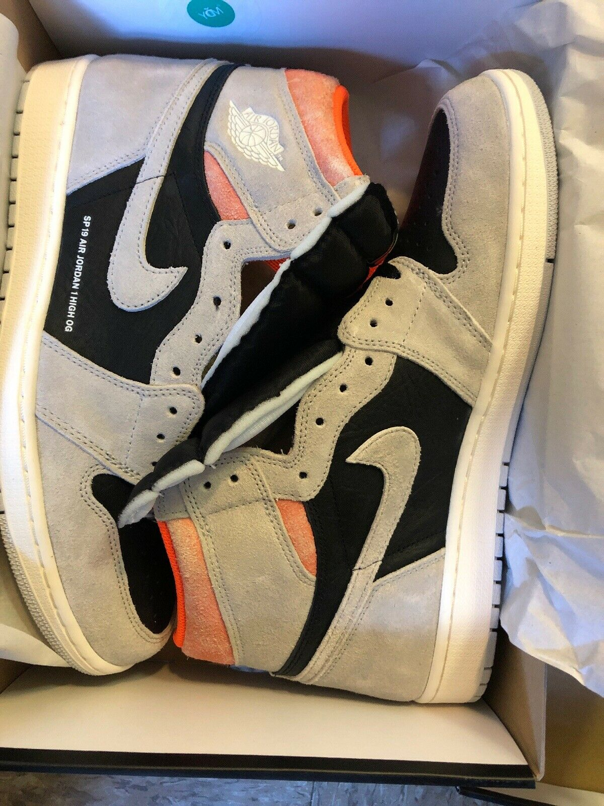 New Nike Nike Nike Air Jordan 1  Retro High OG Neutral Grey SP 19 DS Size 13 322206