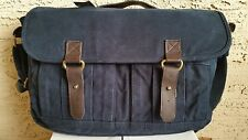NWT *Rare* Abercrombie & Fitch By Hollister Men's Messenger bag Cotton,Leather