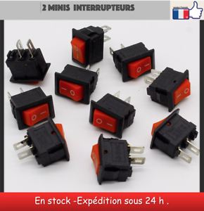 2 Mini interrupteurs 2 positions 12 V miniature toggle switch