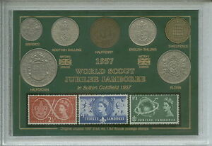 The-Boy-Scouts-World-Scout-Jamboree-Lord-Baden-Powell-Coin-Stamp-Gift-Set-1957
