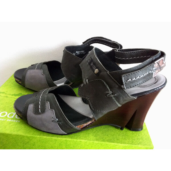 DKode Giano  Schuhe Sandalen Leder Gr. 37-38-39-41  Damen D Kode Keilabsatz