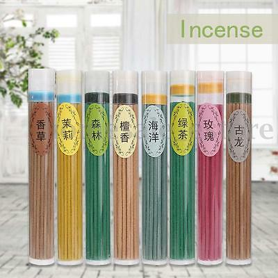 50pcs Floral Scent Natural Plant Essential Oil Aromatherapy Incense Sticks