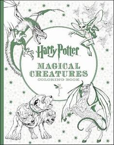 Image Is Loading HARRY POTTER NEW OFFICIAL MAGICAL CREATURES COLORING Amp
