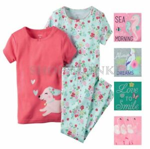 22df1d80a275 Carters Little Girls 3 Piece Mix and Match Cotton Pajama Sleepwear ...