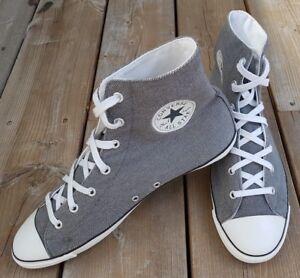 CONVERSE-All-Star-Light-Hi-Metal-Grey-2015-RARE-Sneakers-Shoes-Women-Sz-US-10
