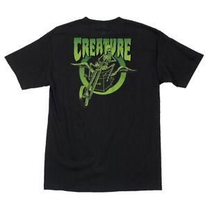 Creature-COFFIN-RIDERS-Skateboard-T-Shirt-BLACK-LARGE