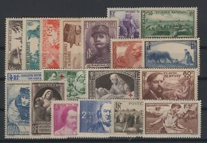 i129330-FRANCE-COMPLETE-YEAR-1940-MINT-MNH-CV-240