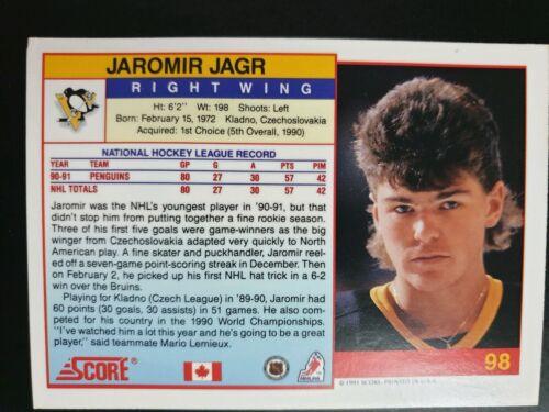 1991-92 Score American #98 Jaromir Jagr