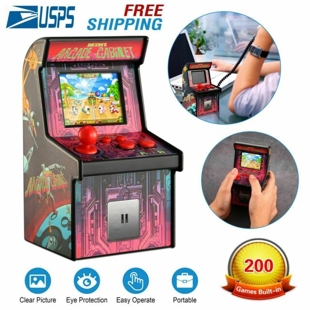 Groovy Kids Mini Retro Arcade Game Cabinet Machine 200 Classic Handheld Video Download Free Architecture Designs Crovemadebymaigaardcom