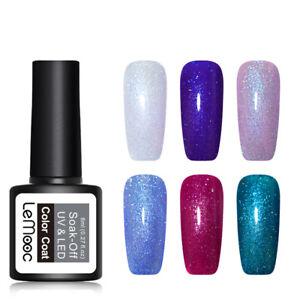 LEMOOC-8ml-Holographic-Gel-Polish-Glitter-Sequins-Soak-Off-UV-Nail-Gel-Varnish