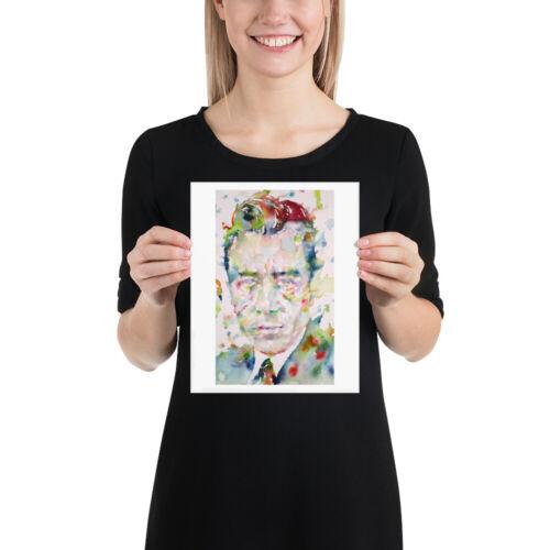 art print various sizes available ALBERT CAMUS watercolor portrait POSTER