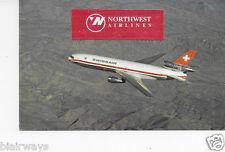 SWISSAIR SWITZERLAND DC-10-30 AIRLINE ISSUE POSTCARD