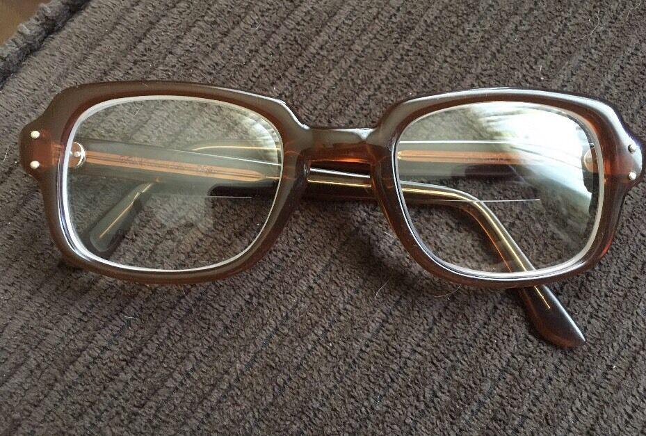 Vintage Romco US Army Eyeglasses Frame Reddish-Brown RO 5024 4 1/2 ...