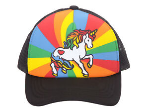 Unicorn-Mesh-Trucker-Hat-Adult-Black-w-Rainbow