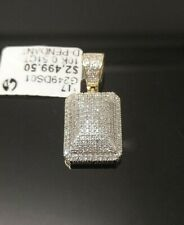 REAL 10K Yellow Gold 0.51 CT Genuine Brilliant Diamond Charm Pendent men's women