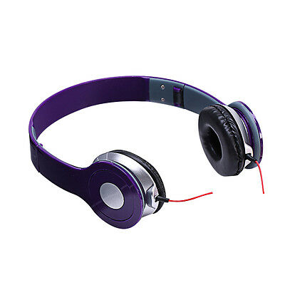 3.5mm Stereo Over Ear Foldable DJ Headphone Headset Earphone For Android iPhone