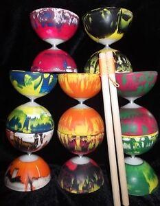 Radiant-Diabolo-Wooden-Diablo-Handsticks-amp-String-Set-Circus-Hand-Sticks