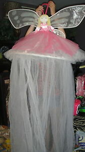 Rare Pottery Barn Kids Fairy Bed Canopy Netting Ebay