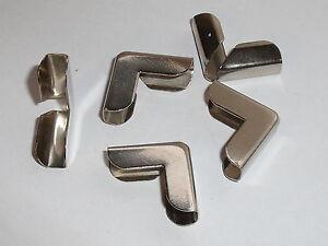 10 Stück Buchecken Metallecken Ecken 20x20x7x5 mm vernickelt NEUWARE