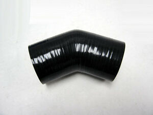 4.0 Silicone 45 Elbow Black