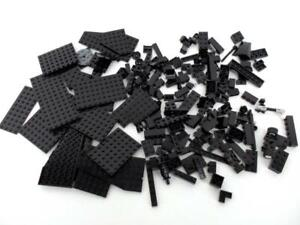 1-2-Pound-Of-Black-LEGOS-Various-bricks-specialty-pieces-amp-plates