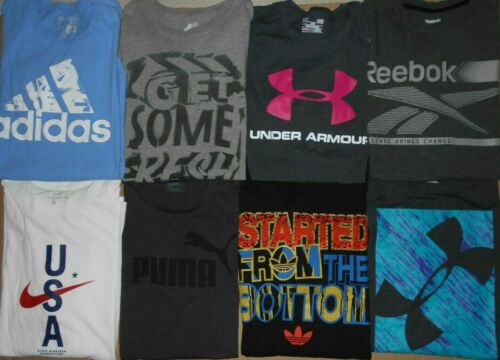 😃Lot 8 Nike Under Armour Reebok Adidas Puma Men … - image 1