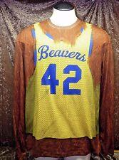 NWOT  Teen Wolf  Beavers Jersey Men's Longsleeve FAUX FUR  Shirt 2XL