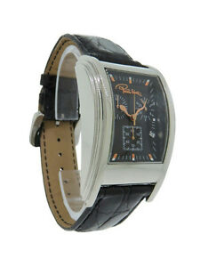 Roberto-Cavalli-R7251955035-Eson-Men-039-s-Analog-Chronograph-Date-Crocodile-Watch