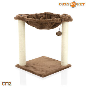 Cozy Pet Deluxe Cat Tree Sisal Scratching Post Quality Cat Trees - CT12-Choc