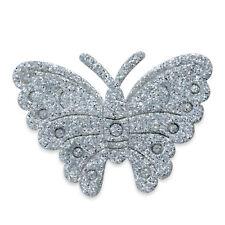 12 Argento Autoadesivo Glitter Farfalle Per Matrimoni Carta Da Lettere