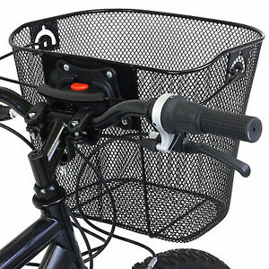 PEDALPRO-BIKE-BICYCLE-METAL-MESH-BASKET-amp-QUICK-RELEASE-BRACKET-SHOPPING-HANDLE