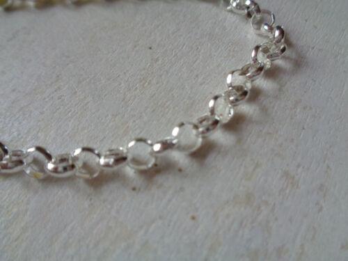 Einfaches Erbsgliederarmband silber