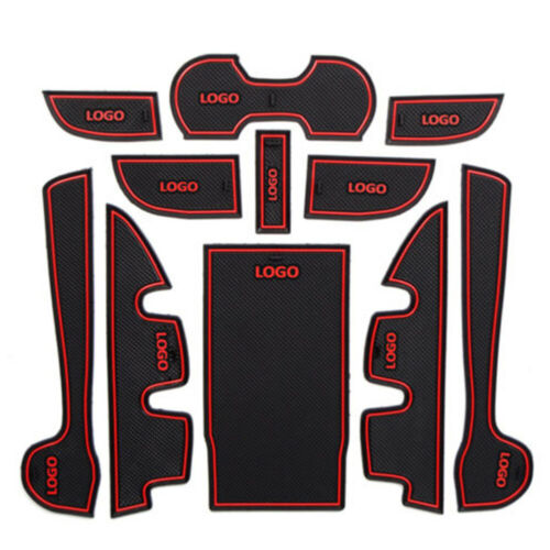 1set Interior Door Mat Cup Pads Holder Gate Slot Pad for Toyota Camry 2012-2015