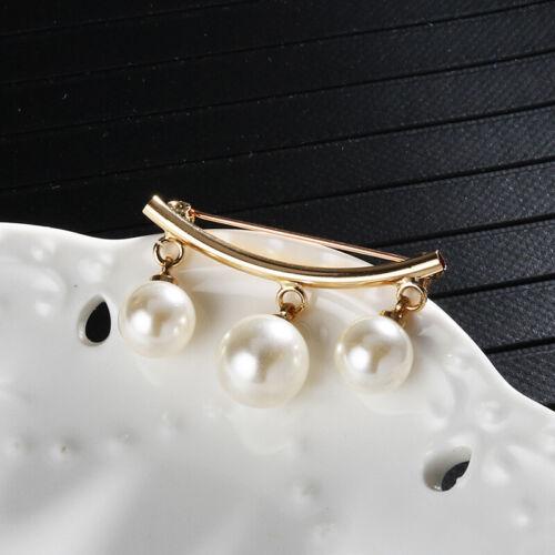 Mode Perle Fest Gurt Charme Sicherheitsnadel Brosche Strickjacke Clip K Y/&BCD