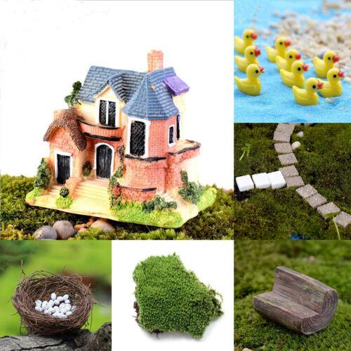 Lots Garden Craft Plant Pots Fairy Ornament Miniature Figurine Dollhouse Decor