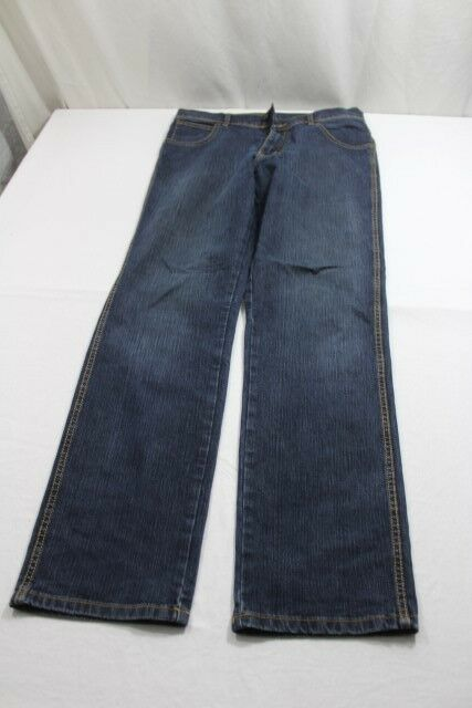 J7948 WRANGLER Regular Fit Jeans w33 l32 Blu Blu Blu Nuovo 468216