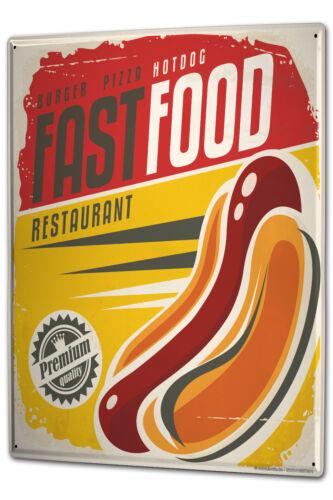 Tin Sign XXL Nostalgic Fun Hot Dog metal plate plaque