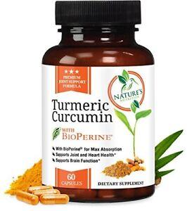 Nature's Nutrition Turmeric Curcumin with Bioperine 1950mg Supplement 60 Capsule