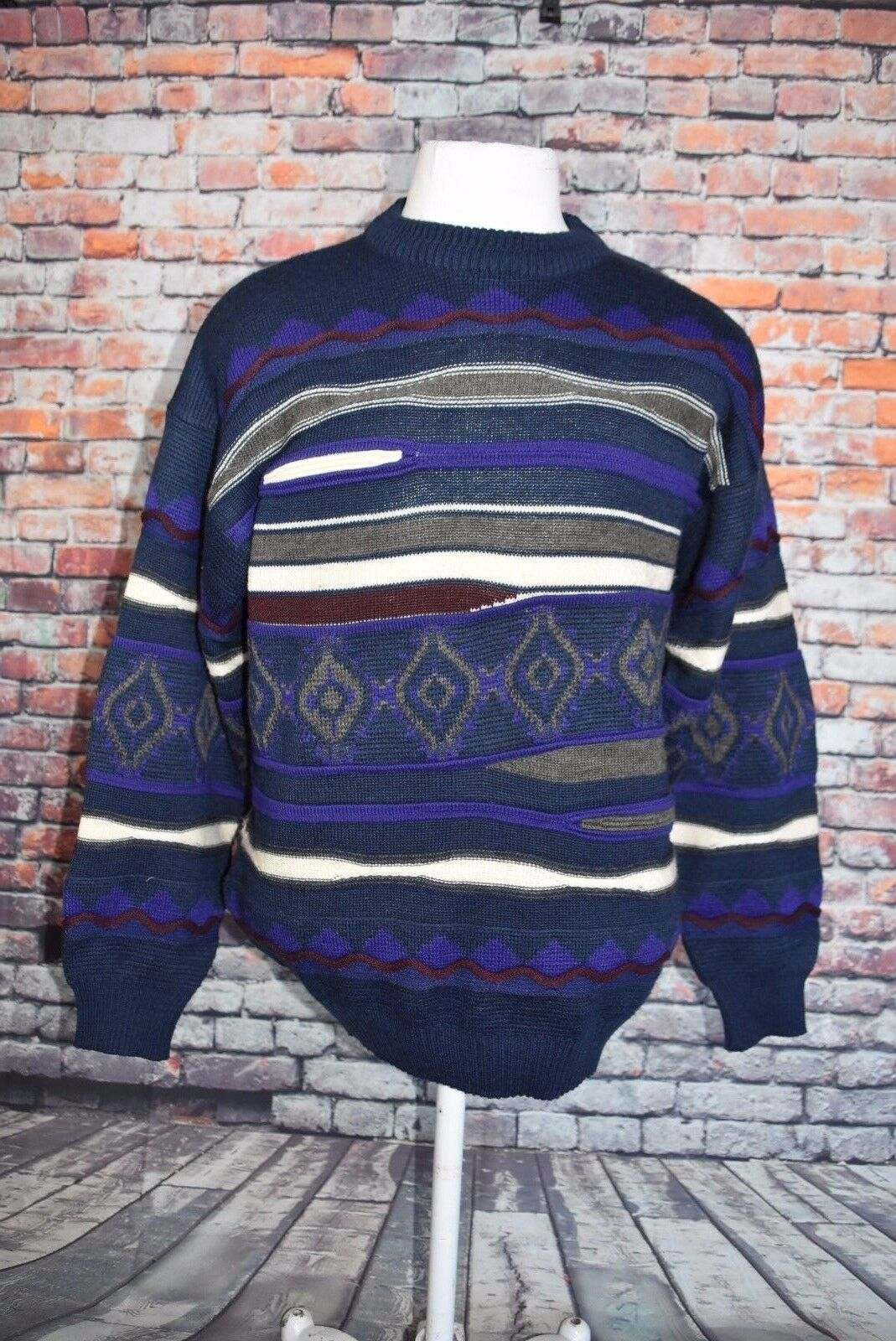 ROBERTINO CAPRA Herren WOOL BLEND PULOVER SWEATER SIZE LARGE