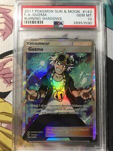 Pokemon Card GUZMA 143//147 Burning Shadows Holo Full Art Ultra Rare NM