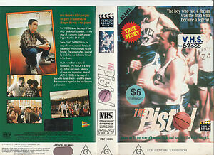THE-PISTOL-THE-BIRTH-OF-A-LEGEND-PETE-MARAVICH-BASKETBALL-RARE-PAL-VHS-VIDEO