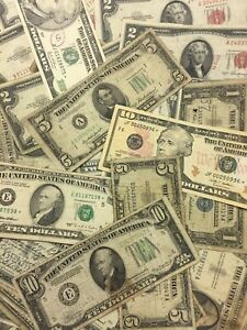Antique Collection of Old Money    $1 00 $5 00, $10 00