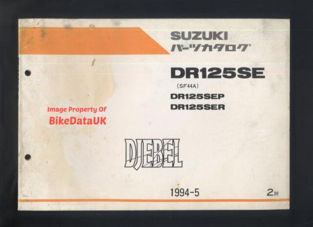 Genuine Suzuki Dr 125 SE Djebel (1993-1994) Parts List Catalog Book Manual  Ac38