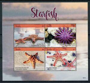Tuvalu 2018 Neuf Sans Charnière étoile De Mer étoile De Mer Knobby Star 4 V M/s Marine Timbres-afficher Le Titre D'origine